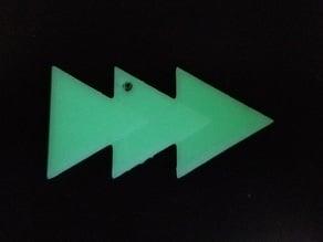 Marvel Quicksilver Logo Keychain