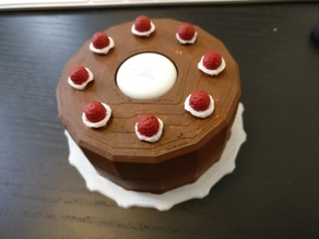 Portal Cake Flic Button Holder