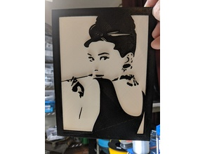 Audrey Hepburn portrait with Frame - Remix of mocho711's thing 3200605