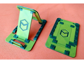 Phone Stand - Flat fold - Print in place (Minibot Logo)