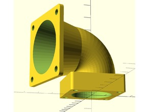 Parametric Fan Adapter with Fan Plate Thickness
