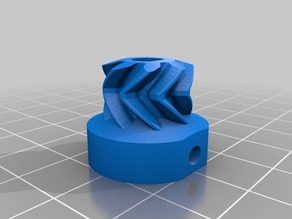 HerringBone Gear for H3 Extruder adaption for Ultimaker