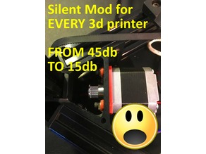 Silent Mod for EVERY 3d Printer !MUST HAVE! (nema damper)