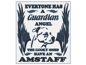 Guardian Angel Amstaff Plate