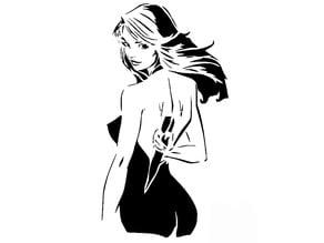 Buffy the vampire slayer stencil