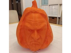 Creepy Face Pumpkin