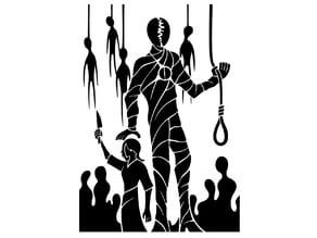 Hanged Men stencil