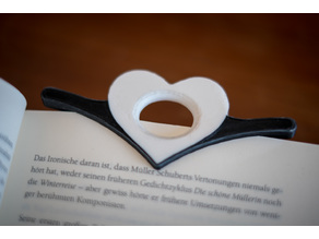 Book Holder with Heart dual material