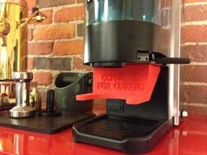 Parametric Portafilter Fork for Rancilio Rocky espresso grinder