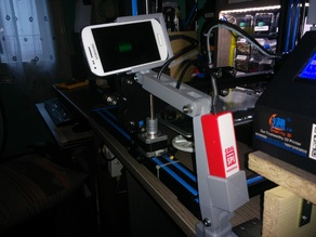 "Articulated arm support for Samsung S3 mini and Power Bank ( i use it with ""Alfred x Camera"")"