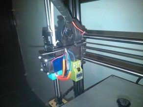 Bowden mount v2 with cube style proximity sensor mount