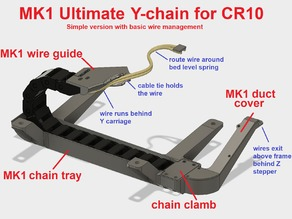 CR-10 Ultimate Y-chain MK1: Y-axis drag chain for bottom mounting