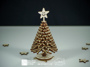 Laser cut christmas pine tree