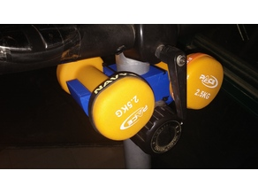 Dumbbell holder for Exercise Bikes