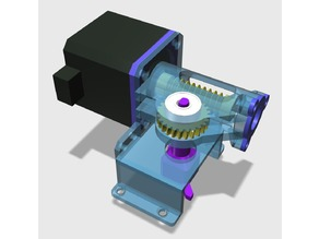Stepper motor with worm gear for operation of air valve