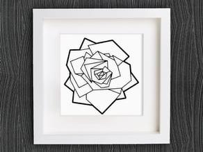 Customizable Origami Rose