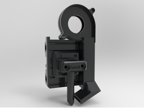 Complete Butter slider X carriage for ANET a8 with adjustable blower fan and built in bearings