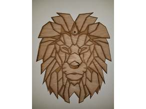 Lion vector for lasercutter