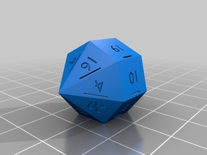 d21 (21 sided dice) Designed as 21st Birthday gift