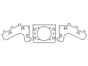 Printrbot laser cut fan mount