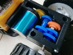 Replacement exterior for TAMIYA 6-Speed Gearbox HE with 2430 7200 KV 4P Sensorless Brushless Motor