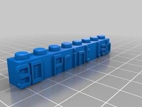 My Customized Lego Block