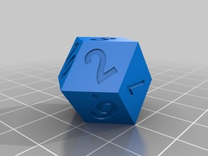 Rhombic Dodecahedron d12