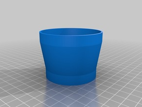 My Customized Parameterized flanged lens hood 54.5