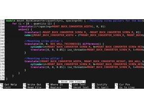 OpenSCAD nano syntax highlighting nanorc