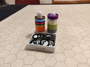 Holder for stackable mini markers and death tokens