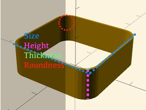 Rounded wall for calibration - Parametric