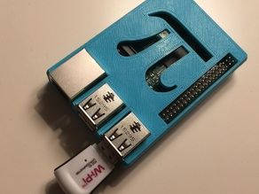 Raspberry Pi case (model B+ /2) w/ Pi Symbol