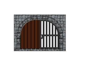 DungeonDoor - Double Door- Tabletop RPG - Miniature Terrain