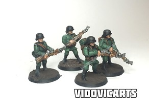 WW2 German Infantry 28mm (Standard pose)