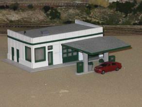 HO Scale Service Station