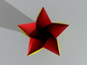 Five-pointed star vase