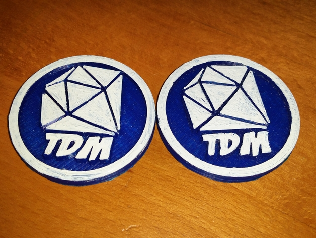 DanTDM Logo Badge by Dhin - Thingiverse