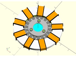 Flat Arc Reactor for Cosplay