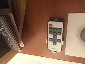 Customizable holder for LED remote control