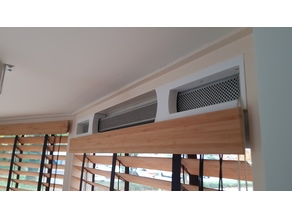 Blinds Frame for Window with air vents