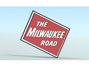 Milwaukee Road sign
