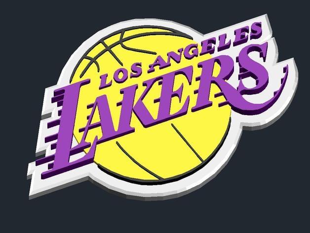 LosAngeles Lakers - Logo by CSD_Salzburg - Thingiverse