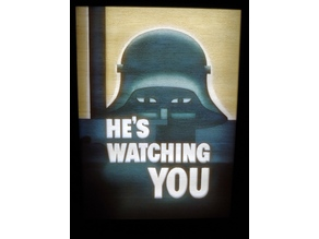 Hes Watching You WW2 poster Lithophane and Frame