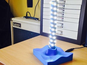 Wave Lamp Base and LED Holder