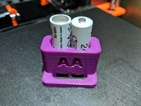 AA Batteries Soldering Holder