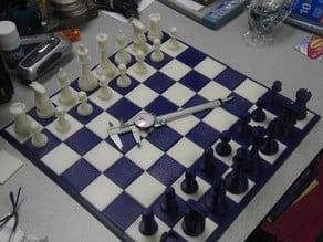 4d-Staunton Full Size Chess Set