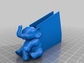 Sitting elephant business card holder