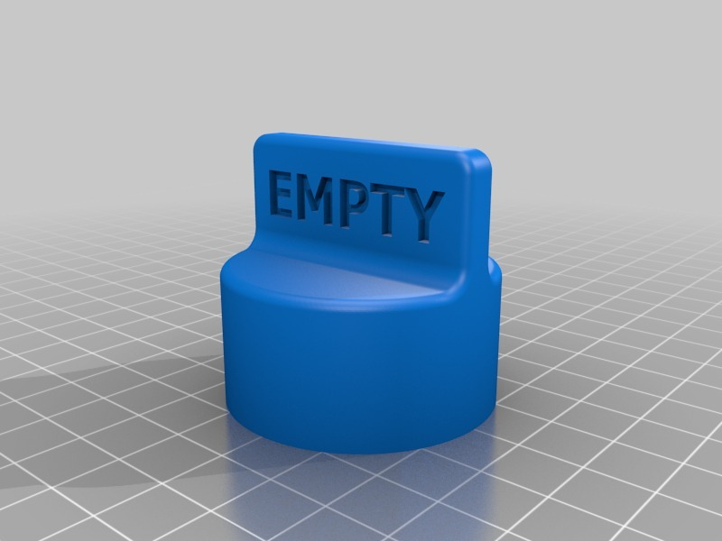 Propane Tank Valve Cover Empty & Full by dacmill4 - Thingiverse
