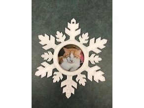 Snowflake Ornament Photo Holder