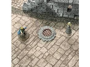 Sewer Entrance Marker (28mm/32mm scale)